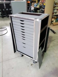flight case sur mesure servante conex motorsport